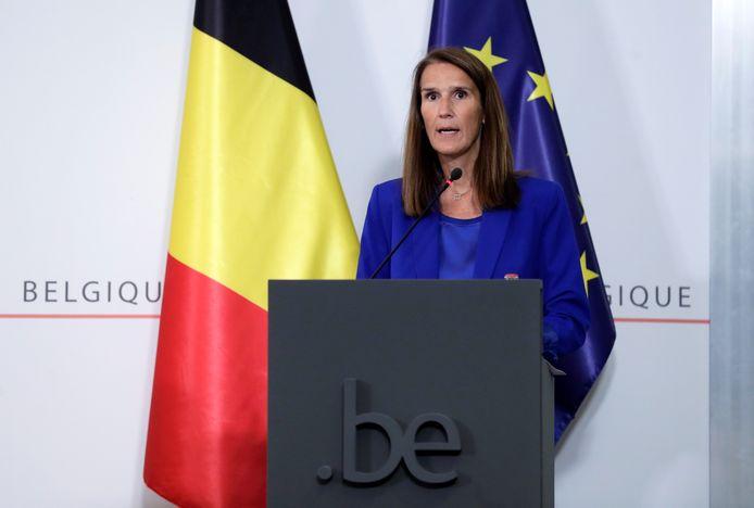 Sophie Wilmès lors de la conférence de presse du CNS ce mercredi 23 septembre.