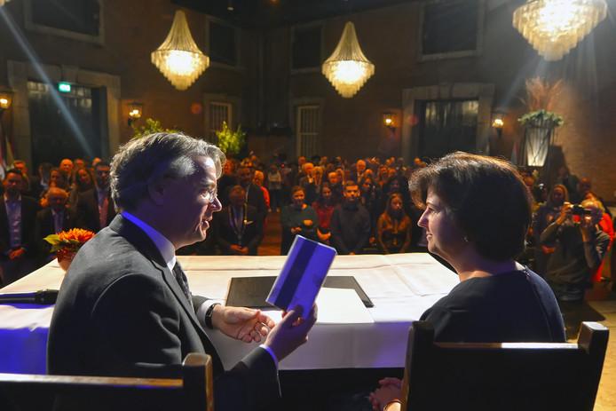 Wim van de Donk en Marian Witte in Fort St. Gertrudis.