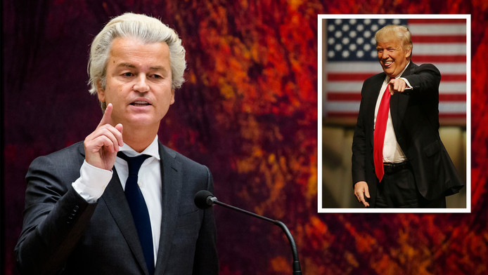 Geert Wilders roemt de ideeën van Donald Trump