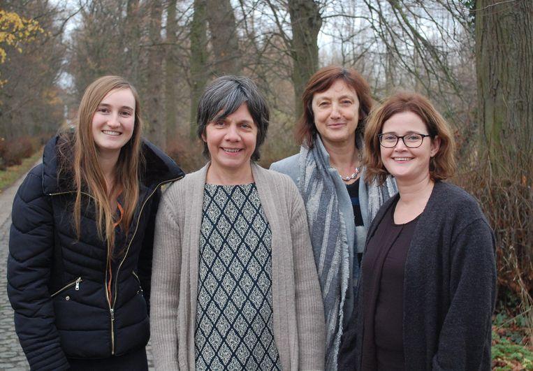 De vier vrouwen die zullen zetelen voor CD&V+ in de Moerbeekse gemeenteraad.