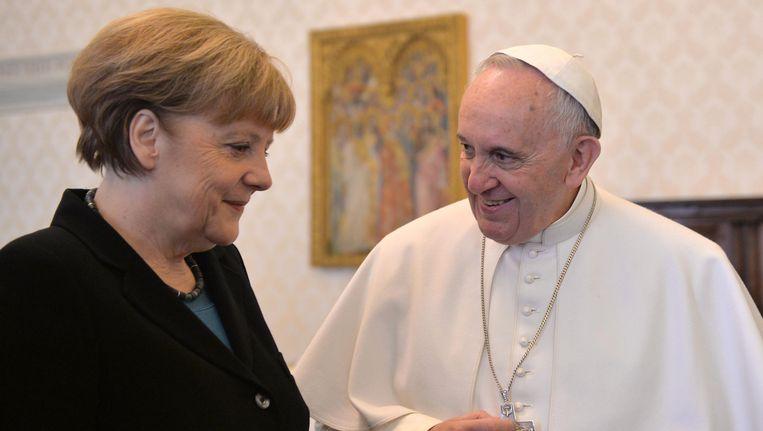 Angela Merkel en Paus Franciscus