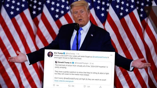 Laten Republikeinen Trump vallen? Wanhopige tweets van zijn zonen lijken dat te suggereren