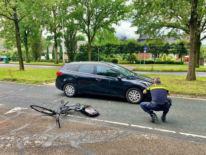 Politie doet onderzoek na het ongeluk in Oldenzaal