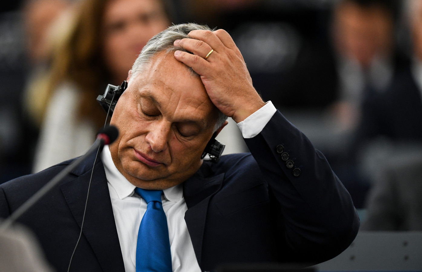 De Hongaarse premier Viktor Orban op archiefbeeld