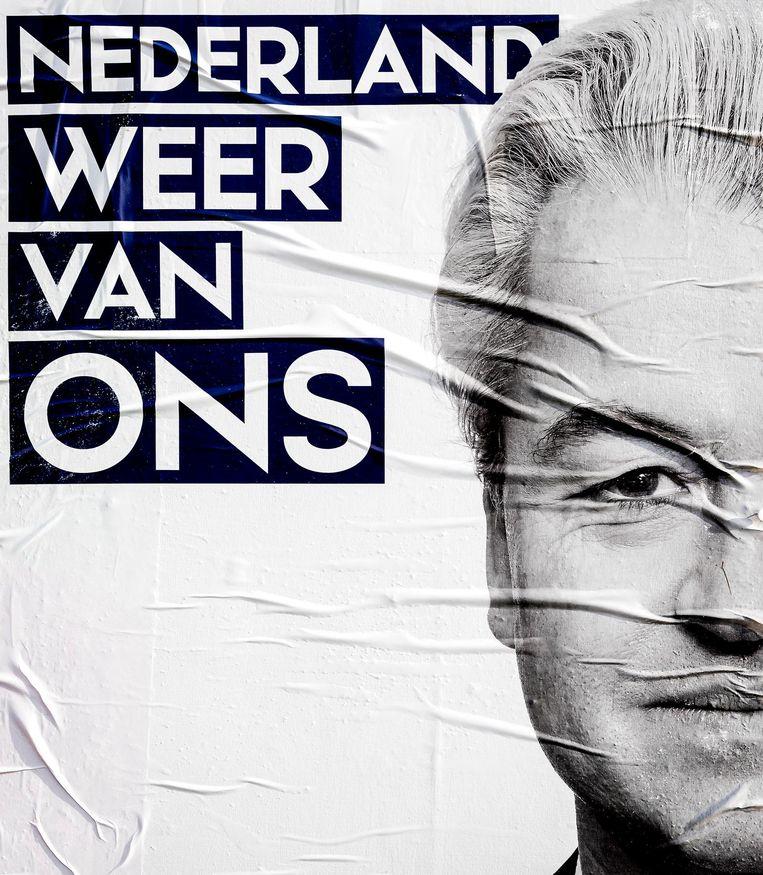 Verkiezingsposter van de PVV. Beeld anp