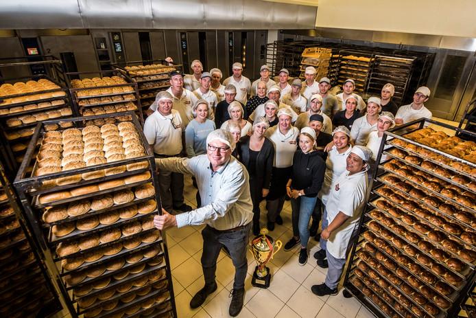 Vincent Nollen en zijn team zijn uitgeroepen tot de beste bakker van Nederland.