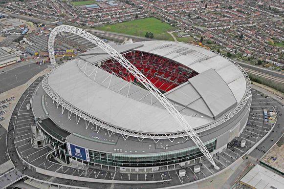 Het vernieuwde Wembleystadion.