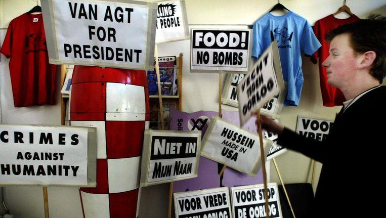 Protest in Amsterdam tegen de Irakoorlog (2003). Beeld Juan Vrijdag