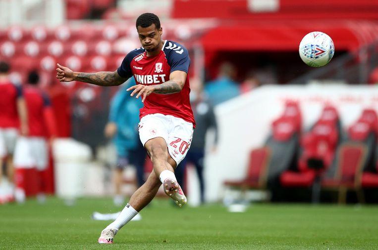 Lukas Nmecha in het shirt van Middlesbrough
