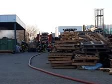 Brand bij bedrijf aan Provinciënbaan in Rijen