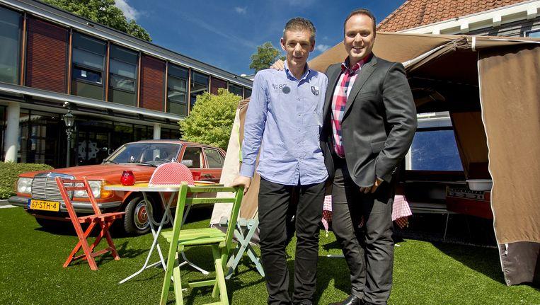 Frans en zijn broer Dorus Bauer in Vive La Frans Beeld anp