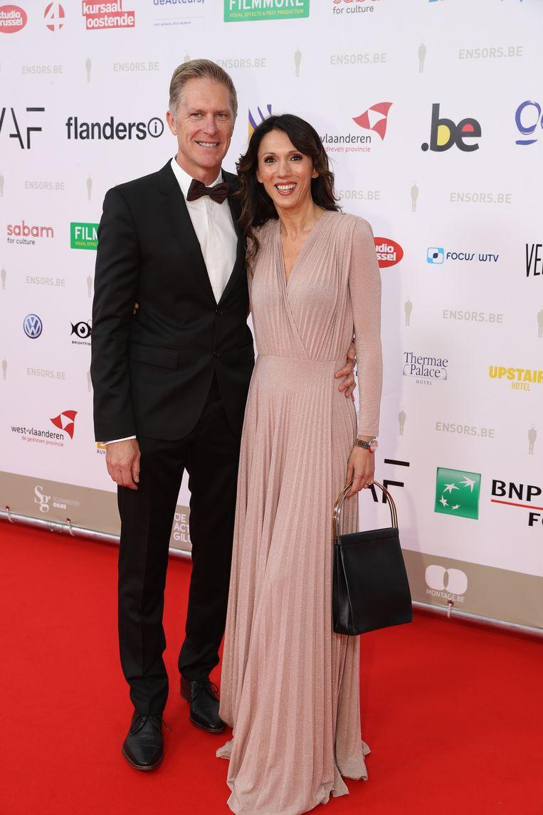 Sandra Bekkari en haar partner Peter Craeymeersch.