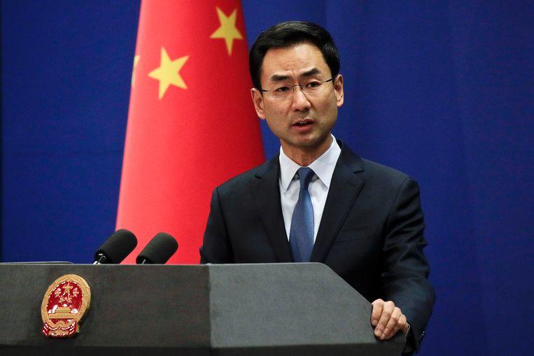 Geng Shuang meldt dat China 28 miljoen euro extra zal overmaken aan het WHO. Zijn land blijft wel een WHO-onderzoek naar de uitbraak van Covid-19 in Wuhan afwijzen.