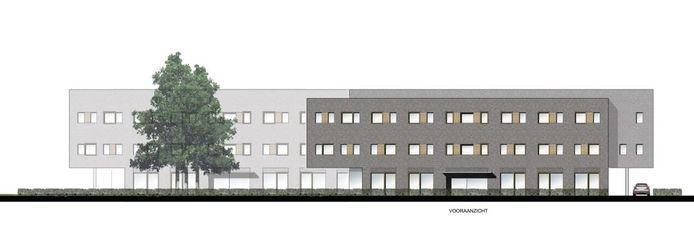 Twee nieuwe kantoren (drie bouwlagen) bouwt ZR Accountants en Adviseurs aan de Taxandriaweg in Waalwijk.