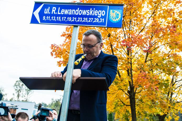 Lewandowski kreeg deze week zijn eigen straat in het Poolse Silesia.