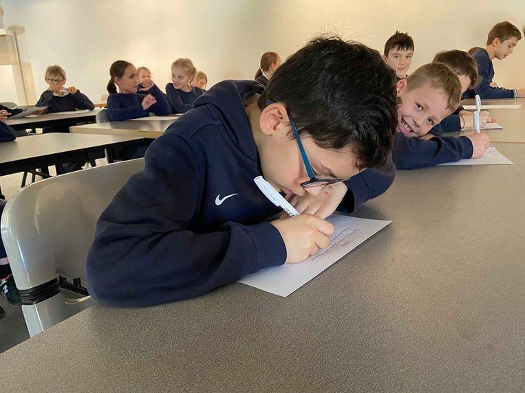 De kinderen reflecteerden over hoe de toekomst in 2050 eruit zou zien.