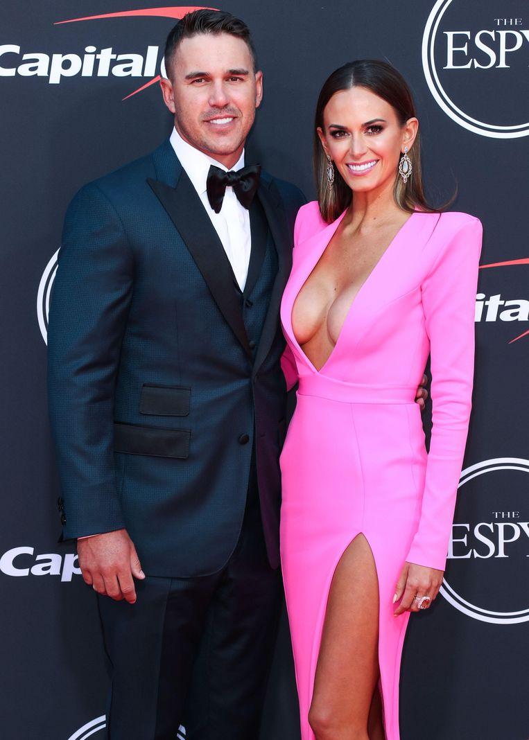 Golfer Brooks Koepka en zijn wederhelft Jena Sims.