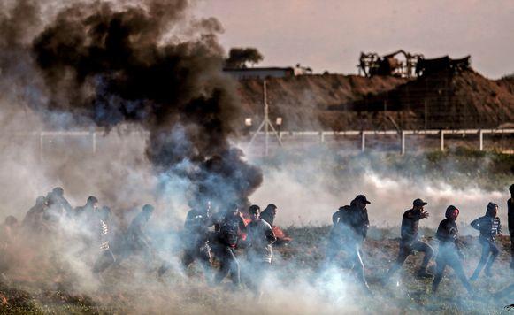Confrontatie aan de Gazastrook.