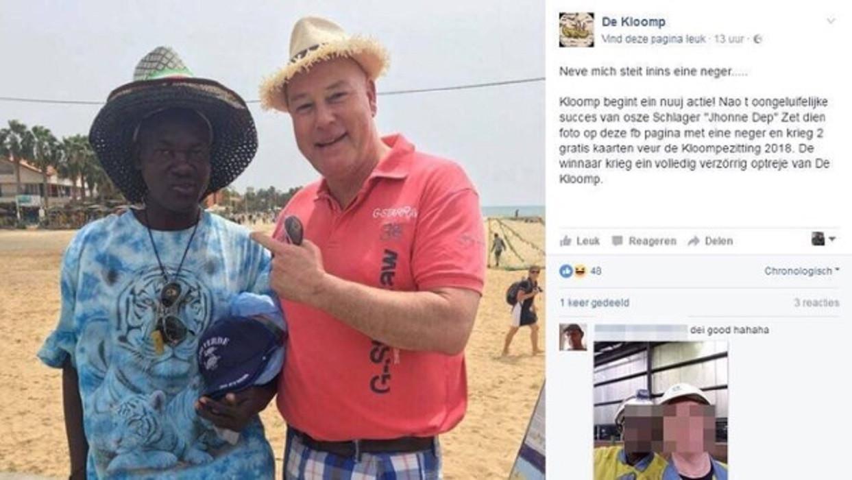 Verlate carnavalsgrap poseer met een neger foto - Amenager zijn caravan ...