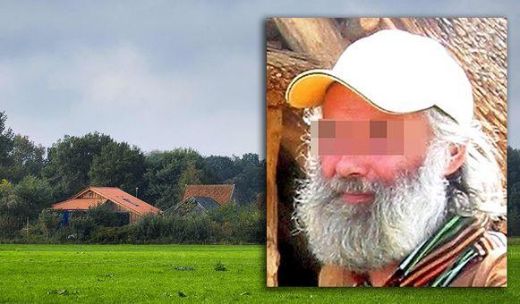 De boerderij in Ruinerwold. Rechts Gerrit-Jan van D.