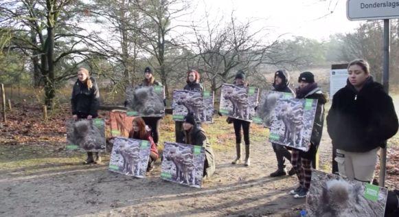 Animal Rights kwam ter plaatse met foto's van kleine zwijntjes.