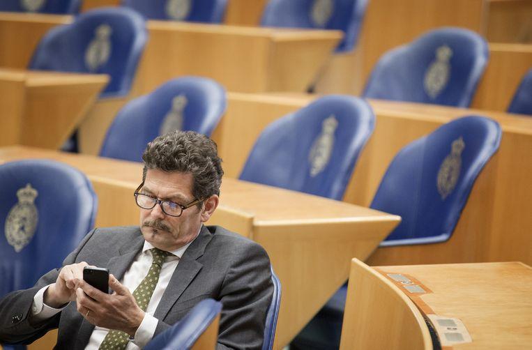 PVV-Kamerlid Harm Beertema in de Tweede Kamer tijdens een debat eerder dit jaar. Beeld anp