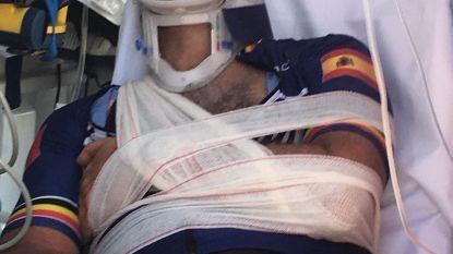 Twee weken na ongeval Tom Waes: groot litteken, maar wel al weer op reis