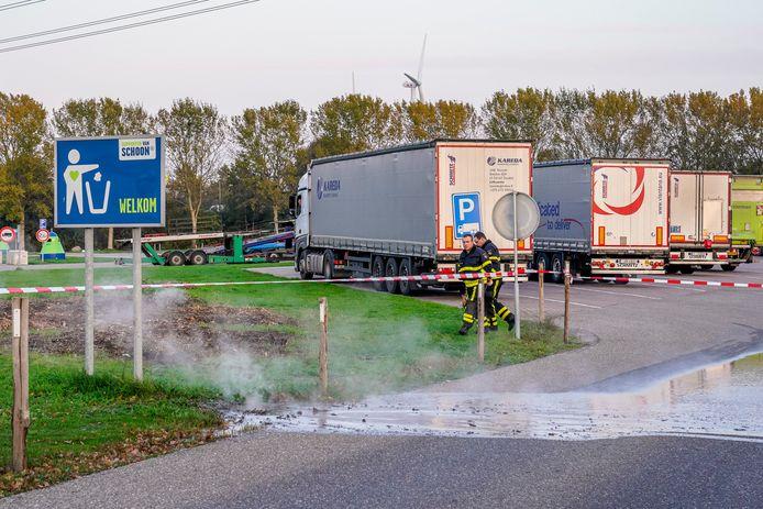Lekkage stadsverwarming tankstation A59 Den Hout