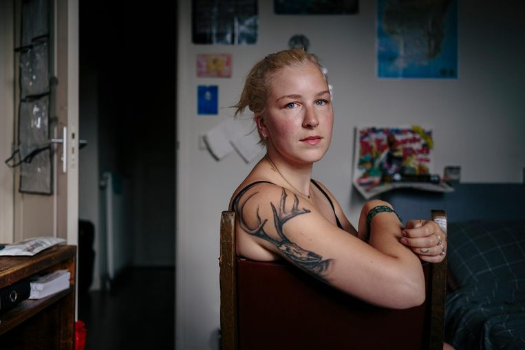 Luna de Groot (22): 'Je moet bereid zijn een huis te delen met vijf anderen' Beeld Marc Driessen