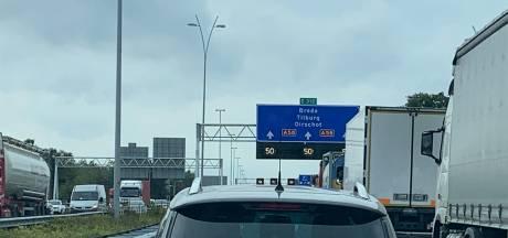 Veel vertraging op A58 bij Ulvenhout door een ongeluk