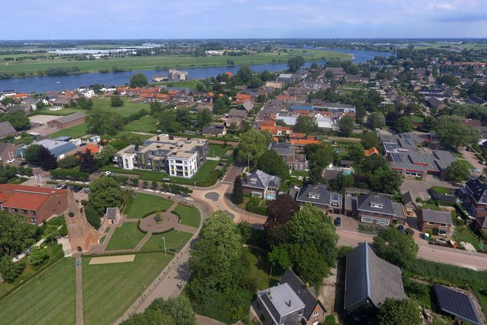 Het dorp Andel vanuit de lucht gezien.
