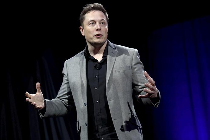 Elon Musk, topman van Tesla.