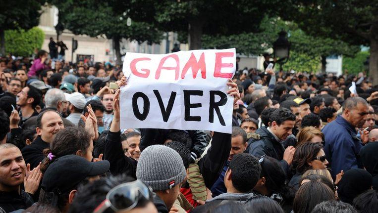 Demonstraties vorig jaar in Tunis. Beeld afp