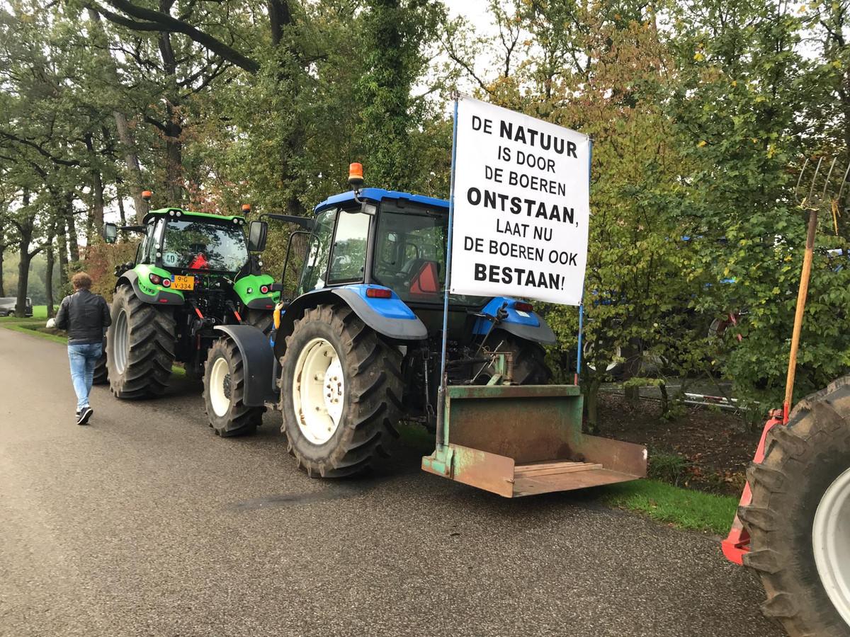 Boerenprotest bij natuurgebied Wooldse Veen in Winterswijk.