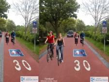 Twee opties voor fietsstraat Zandpad tussen Nieuwersluis en Maarssen