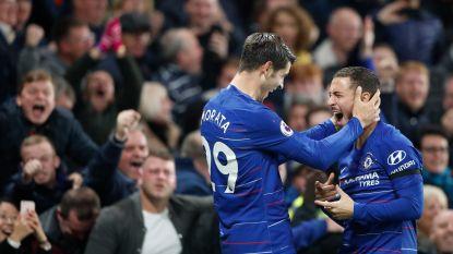 Morata en Pedro loodsen Chelsea naar nieuwe driepunter, invaller Hazard heeft aan minuut genoeg om assist te geven