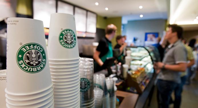 Het Starbucks filiaal op Utrecht Centraal.