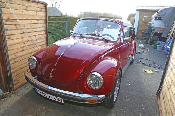 De Volkswagen Kever werd helemaal opgesmukt.
