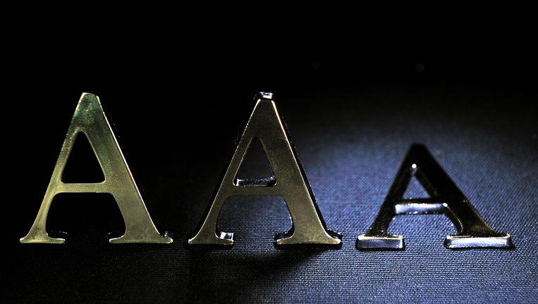 Nederland is de befaamde Triple A status kwijt en moet het nu met 'AA' doen Beeld null