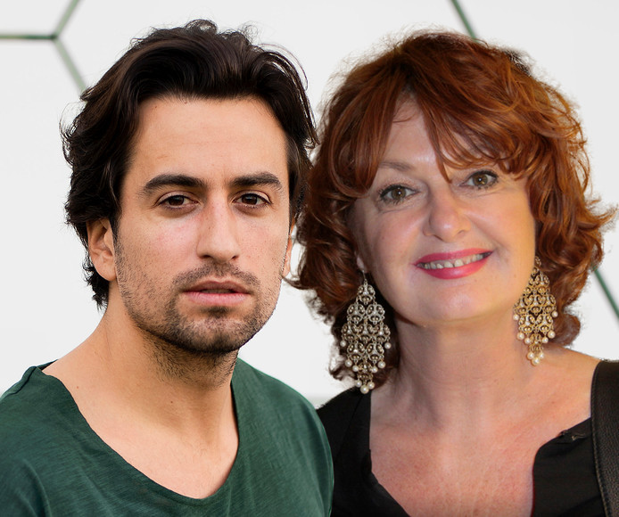 Dotan en zijn moeder Patty Harpenau.