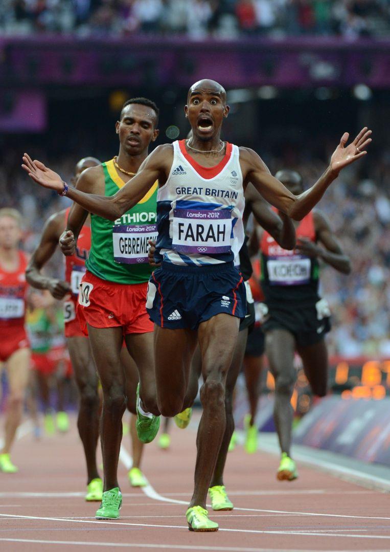 Farah won twee keer goud op de Olympische Spelen in 2012