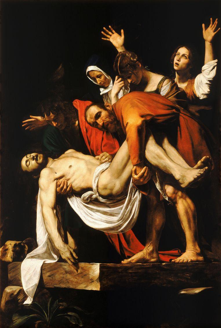De graflegging van Christus, Caravaggio, 1602—1603 - komt te hangen in het Centraal museum in Utrecht.  Beeld x