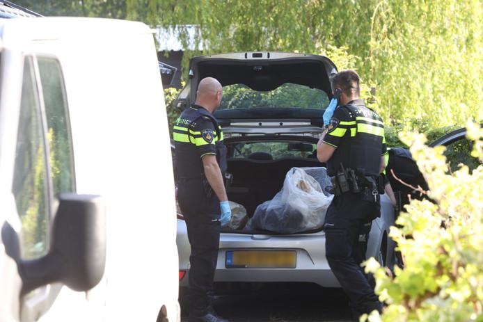 Drugslab in loods achter woning in Liempde.