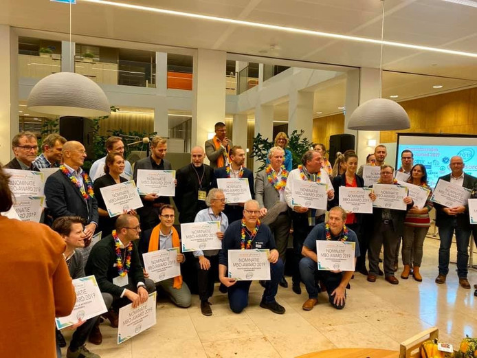 De genomineerden voor de MBO-Award in Doetinchem.