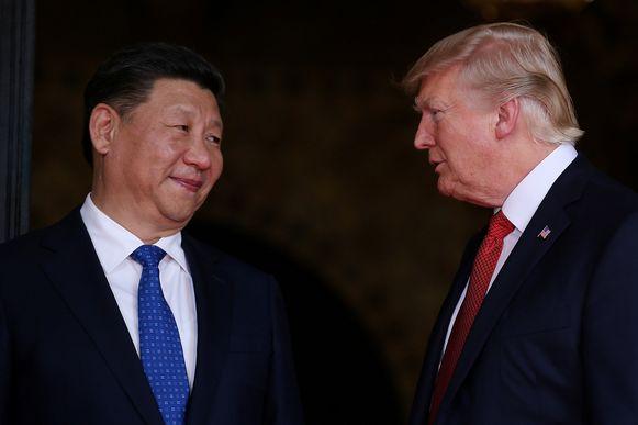 Xi Jinping en Donald Trump (archiefbeeld).