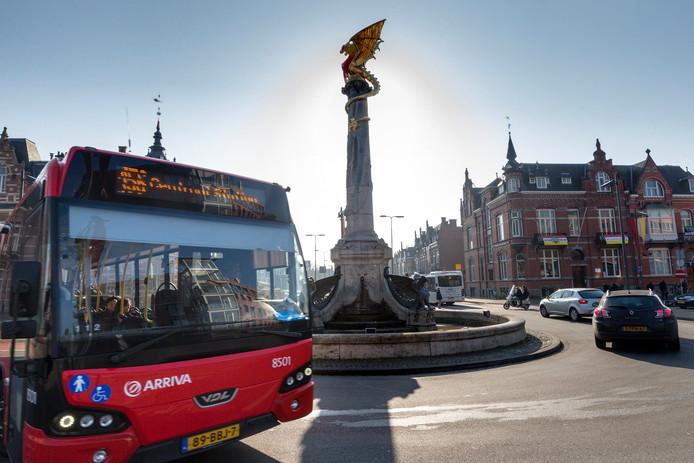 Stationsplein in Den Bosch.