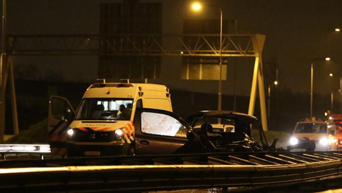 De auto van een. van de slachtoffers.