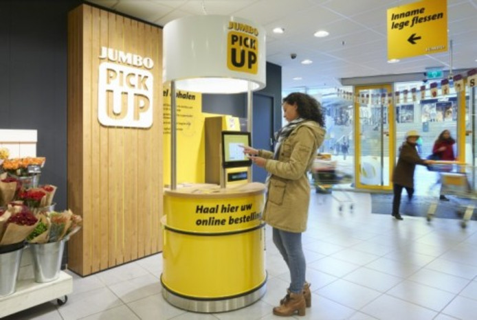 Een pick up point van Jumbo.
