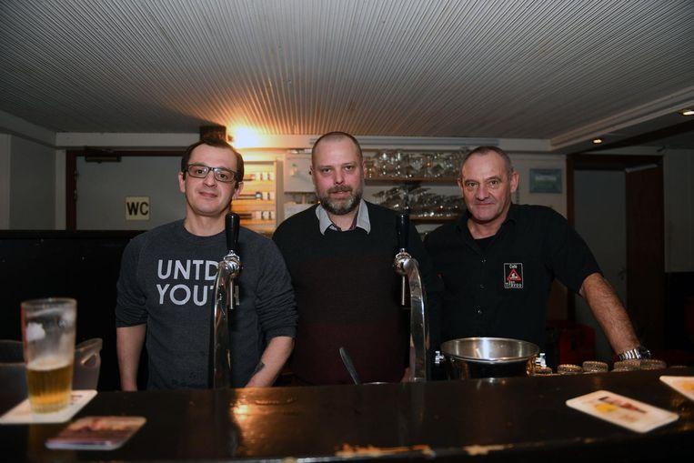 Zaakvoerders Asan Boulafdec, Koen Vanroelen en Luc Bastiaens.