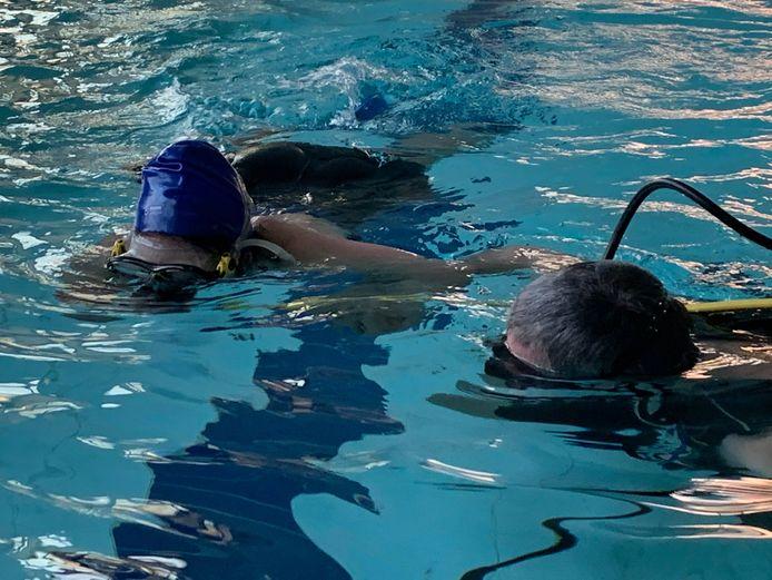 Duikinitiatie van Boas vzw toen het zwembad nog open was.